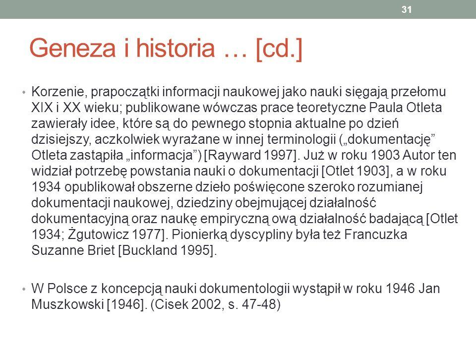 Geneza i historia … [cd.]